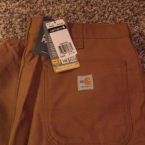 NWT Carhartt Flame-Resistant Duck Work Pants 34x36